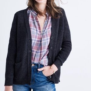Madewell Seedstitch Button Front Cardigan Size S